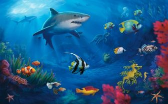 shark-and-tropical-fish-graphic_1203254